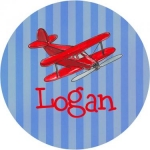 Airplane Melamine Plate