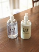 A Clear Simple Powder Room Bottles Set