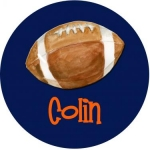 Football Melamine Plate -Navy