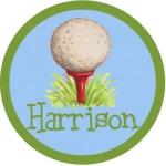 Golf Tee Melamine Plate