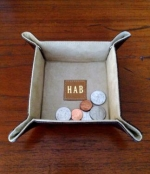 Leather Snap Valet Tray