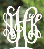 Monogram CupCake Topper-Set of 4