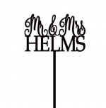 Personalized Mr & Mrs Cake Topper