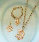 Britton Two-Letter Monogram Charm and Bracelet