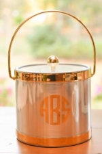 Chrome and Gold Ice Bucket