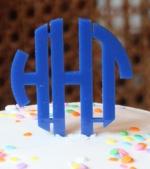 Circle Monogram Cake Topper