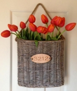 Door & Wall Basket with House Number
