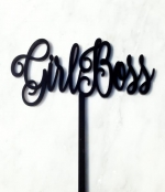Girlboss Cake Topper