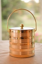 Gold Stripes Ice Bucket