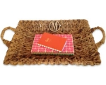Letter Wicker Tray - Large