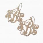 Mackenzie Script Earrings