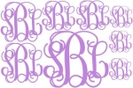 Monograms to Go Scripty Decal Set