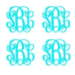 Monograms to Go Set of 4 Decal Set