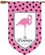 Personalized Flamingo Flag