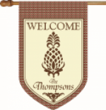 Personalized Pineapple Flag