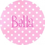 Pink Dot Melamine Plate