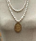 Sheila Pearl & Monogram Pendant
