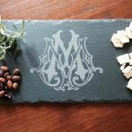 Slate Cheese Server with Single Letter - MEDIUM