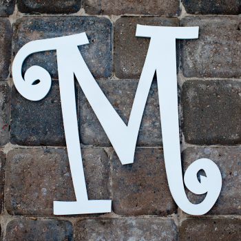 Curlz Single Monogram